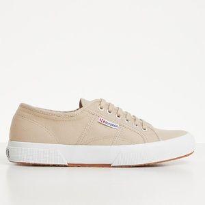 Tan Superga sneakers